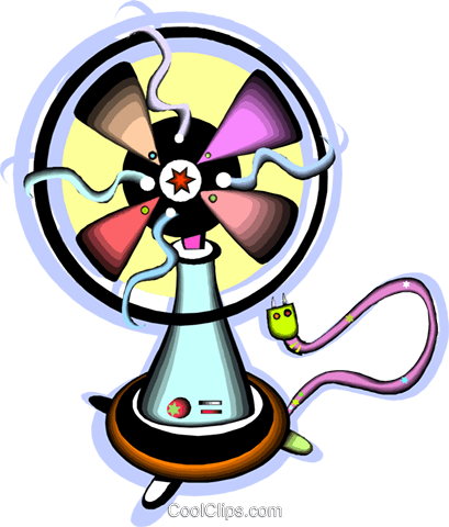electric fan Royalty Free Vector Clip Art illustration vc012115