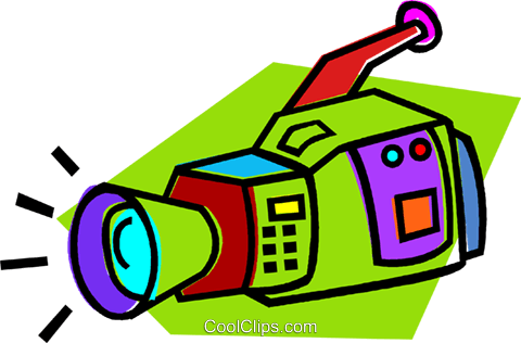 video camera Royalty Free Vector Clip Art illustration vc012121