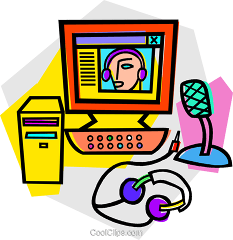 computer Royalty Free Vector Clip Art illustration vc012124