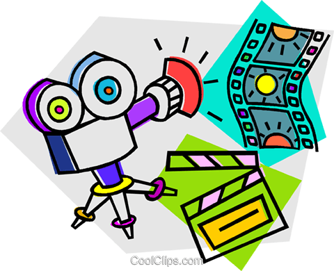 movie camera Royalty Free Vector Clip Art illustration vc012125
