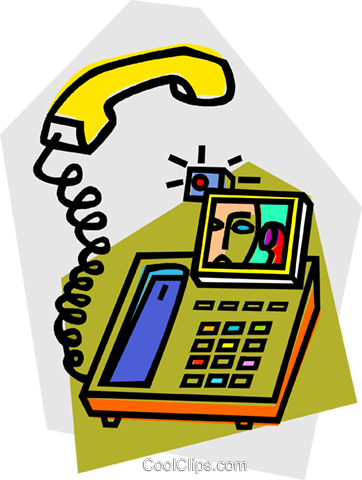 video phone Royalty Free Vector Clip Art illustration vc012126
