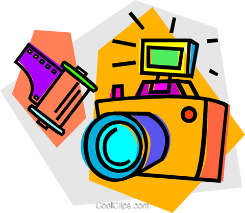 camera Royalty Free Vector Clip Art illustration vc012131