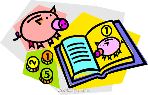 piggy bank Royalty Free Vector Clip Art illustration vc012134