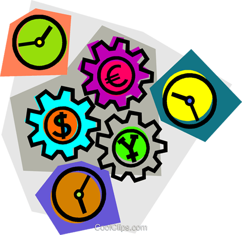 gears Royalty Free Vector Clip Art illustration vc012142