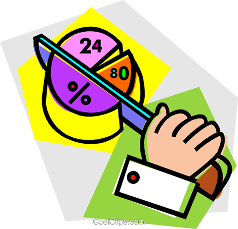 pie chart Royalty Free Vector Clip Art illustration vc012145