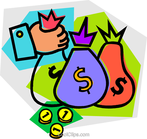 money bags Royalty Free Vector Clip Art illustration vc012159