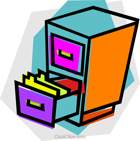 filing cabinet Royalty Free Vector Clip Art illustration vc012161