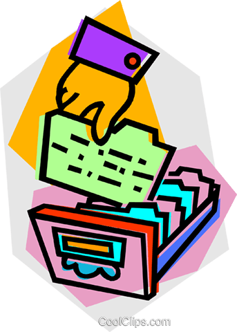 card catalogue Royalty Free Vector Clip Art illustration vc012163