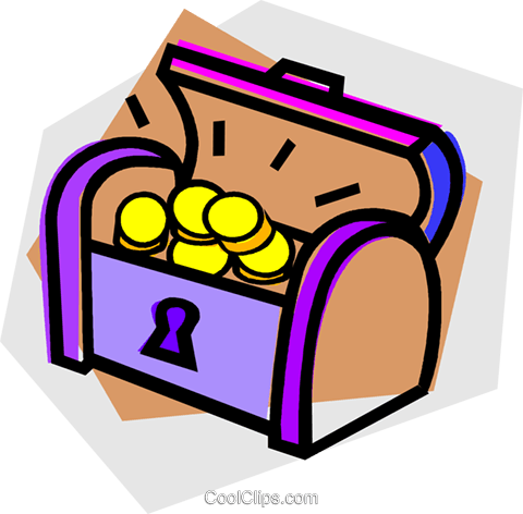 treasure chest Royalty Free Vector Clip Art illustration vc012167