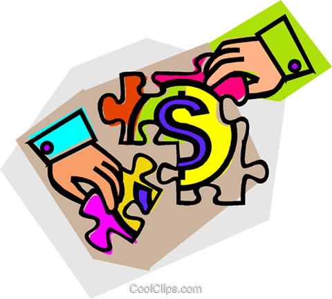 money puzzle Royalty Free Vector Clip Art illustration vc012169