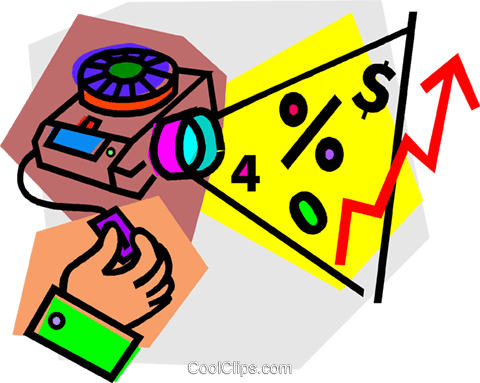 slide projector Royalty Free Vector Clip Art illustration vc012174