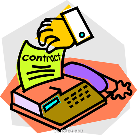 fax machine Royalty Free Vector Clip Art illustration vc012176