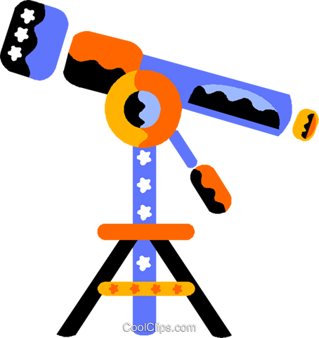 telescope Royalty Free Vector Clip Art illustration vc012182