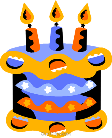 birthday cake Royalty Free Vector Clip Art illustration vc012183