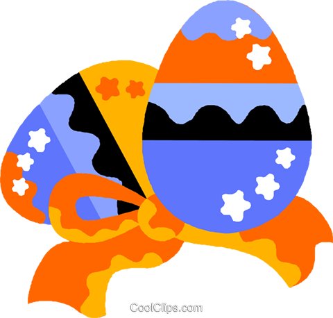 Easter eggs Royalty Free Vector Clip Art illustration vc012189