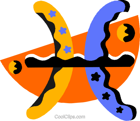 astrology Pisces Royalty Free Vector Clip Art illustration vc012194