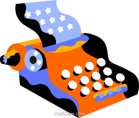 typewriter Royalty Free Vector Clip Art illustration vc012196