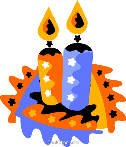 candles Royalty Free Vector Clip Art illustration vc012210