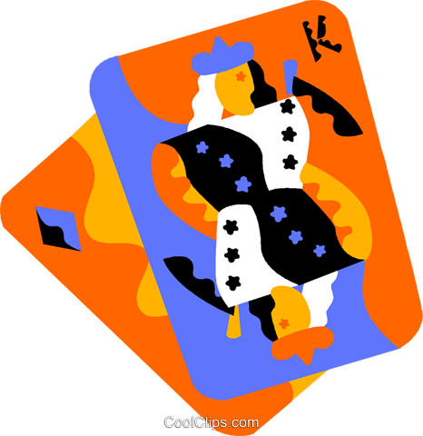 playing cards Royalty Free Vector Clip Art illustration vc012214