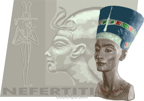 nefertiti Royalty Free Vector Clip Art illustration vc012231
