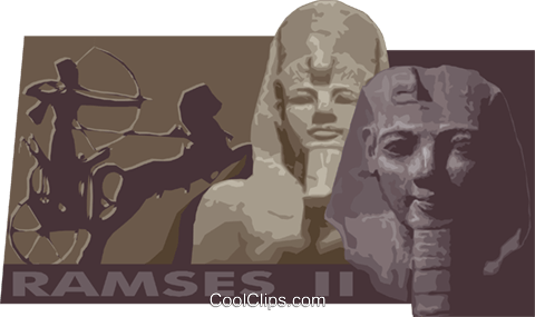 ramses II Royalty Free Vector Clip Art illustration vc012233