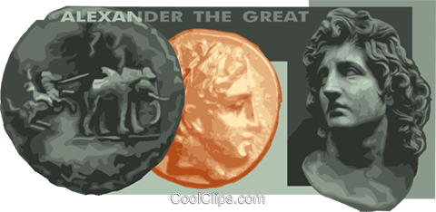 Alexander the great Royalty Free Vector Clip Art illustration vc012236