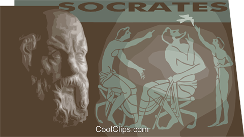 Greek philosopher Socrates Royalty Free Vector Clip Art illustration vc012238