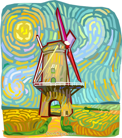 windmill Royalty Free Vector Clip Art illustration vc012245