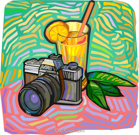 camera Royalty Free Vector Clip Art illustration vc012248