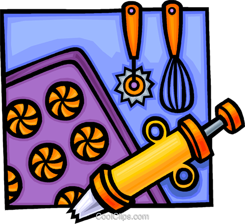 Baking equipment Royalty Free Vector Clip Art illustration vc012253
