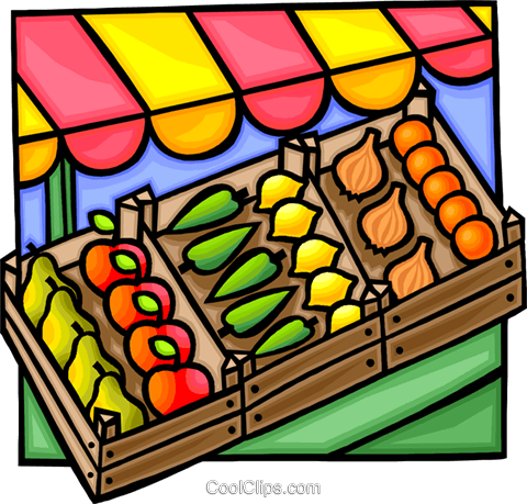 Vegetable stand Royalty Free Vector Clip Art illustration vc012257