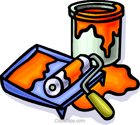 paint Royalty Free Vector Clip Art illustration vc012263