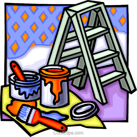 painting equipment Royalty Free Vector Clip Art illustration vc012264