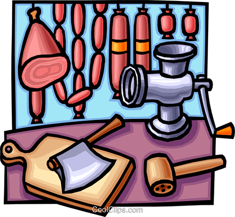 meat grinder Royalty Free Vector Clip Art illustration vc012270