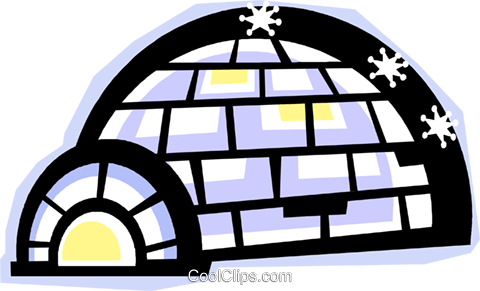 igloo Royalty Free Vector Clip Art illustration vc012274