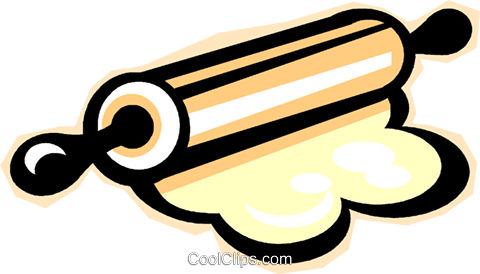 rolling pin Royalty Free Vector Clip Art illustration vc012277