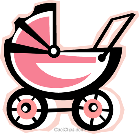 baby stroller Royalty Free Vector Clip Art illustration vc012278
