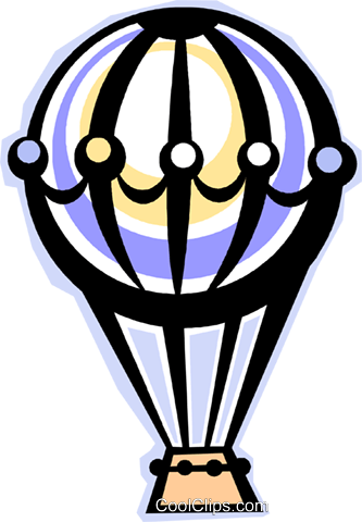 hot air balloon Royalty Free Vector Clip Art illustration vc012295