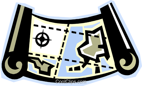 map Royalty Free Vector Clip Art illustration vc012296