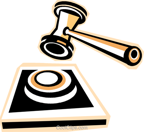 gavel Royalty Free Vector Clip Art illustration vc012297