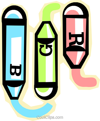 crayon Royalty Free Vector Clip Art illustration vc012298