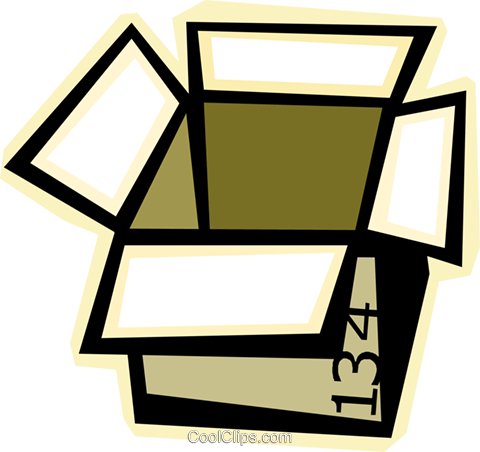 box Royalty Free Vector Clip Art illustration vc012301