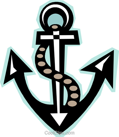 anchor Royalty Free Vector Clip Art illustration vc012303