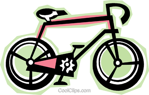 bicycle Royalty Free Vector Clip Art illustration vc012308
