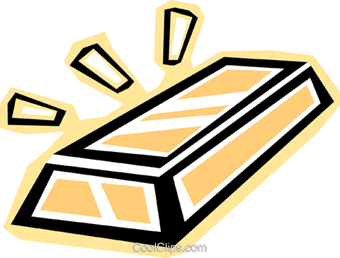 gold bar Royalty Free Vector Clip Art illustration vc012309