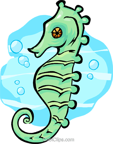 seahorse Royalty Free Vector Clip Art illustration vc012355
