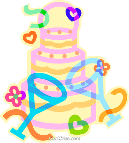 Wedding cake Royalty Free Vector Clip Art illustration vc012371