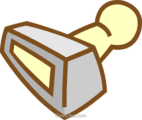 rubber stamp Royalty Free Vector Clip Art illustration vc012474