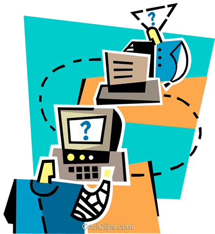 Computer confusion Royalty Free Vector Clip Art illustration vc012553