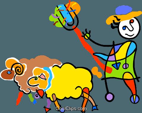 羊 免版税矢量剪贴画插图